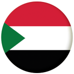 Sudan Country Flag 58mm Button Badge